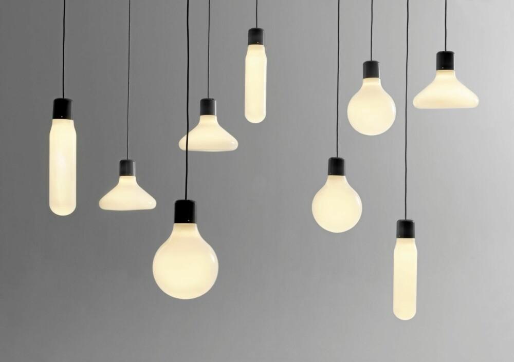 MANGE KOMBINASJONSMULIGHETER: Pendellampene Form Pendants innbyr til selv å lage sin egen lysinstallasjon. Design ved Form Us With Love for Design House Stockholm