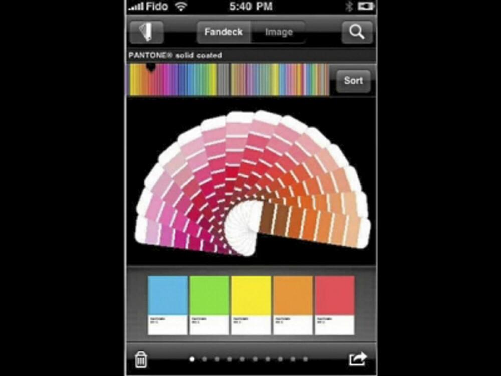 VALGETS KVAL: Med over 5000 farger å velge mellom blir du aldri fri for valgmuligheter med denne appen.