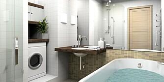 GJØR JOBBEN SELV: Med nye våtromsplater kan du selv gjøre badet tett.