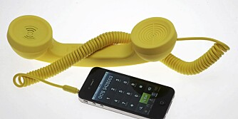RING RING: Denne MÅ vi jo bare ha! POP Phone fra Superstudio passer til både iPhone og iPad.