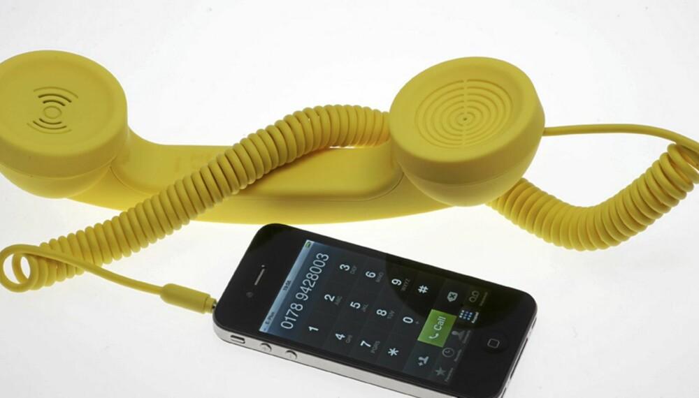 RING RING: Denne MÅ vi jo bare ha! POP Phone fra Superstudio passer til både iPhone og iPad.