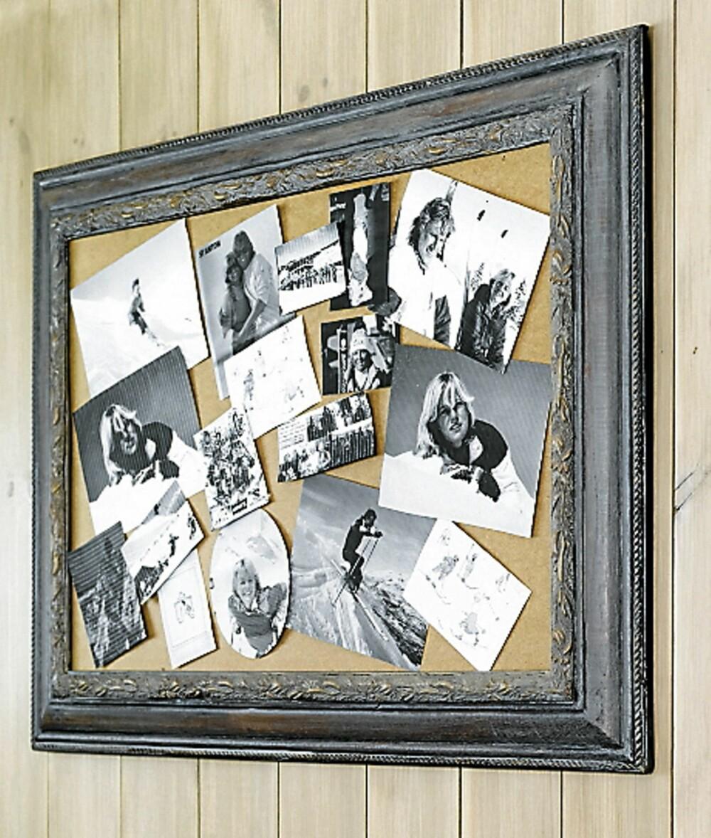 PERSONLIG VEGG: Vil du ha en vegg med et helt personlig preg kan du lage en bildecollage av ulike fotografier. Originalt og dekorativt.