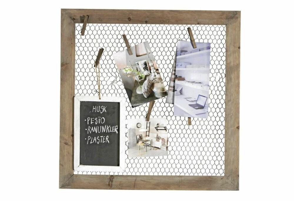SCRAPBOOK: Lag en personlig scrapbook til veggen med bilder, utklipp og minner.