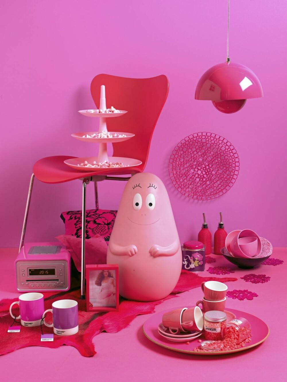 MANGE MULIGHETER: Det er ikke vanskelig å finne morsomme rosa detaljer. Noen små detaljer i interiøret kan være alt som skal til.