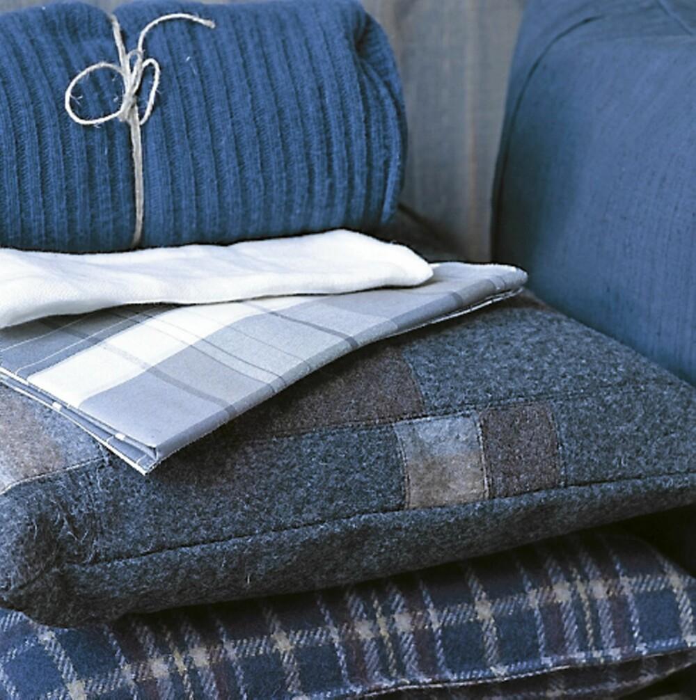 LUNE TEKSTILER: Skap spenning i interiøret ved å blande ulike teksturer og strukturer som ull, lin og bomull.
