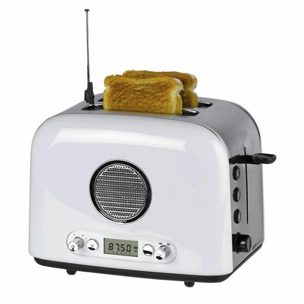 RADIOBRØD: Det er langt fra sikkert at en brødrister med integrert radio blir en bestselger.