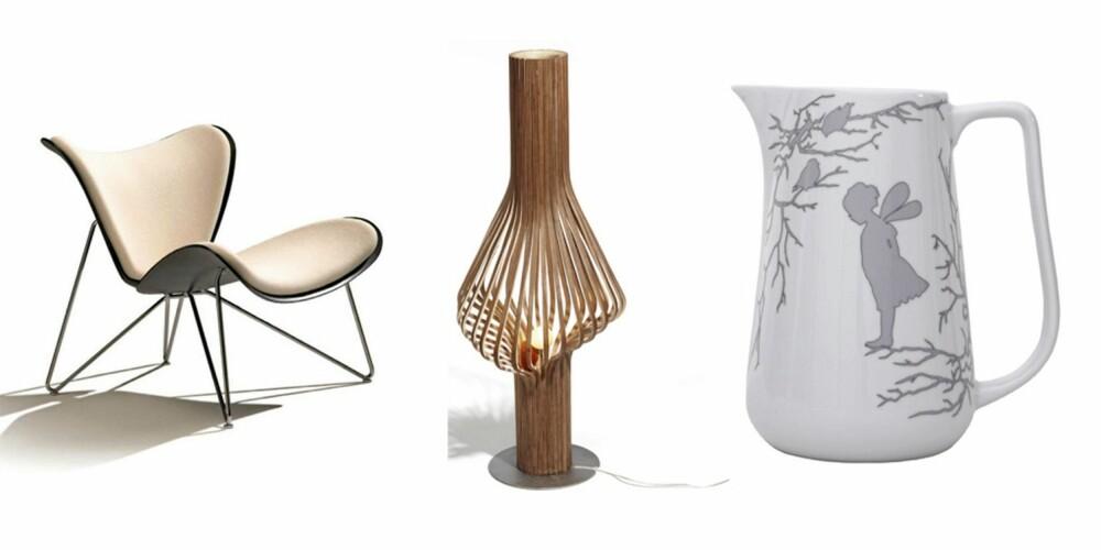 NORSK DESIGN: Dette er norsk design på sitt beste. Her får du både møbler, belysning og småting, og alt er rendyrket norsk design.