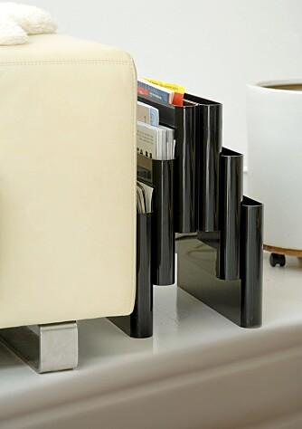 ORDEN I SYSAKENE: Kartells oppbevaringdsystem for magasiner og aviser har Wille hatt i mange år. Den ble designet av Giotto Stoppino i 1972.