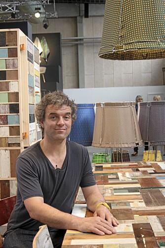 DESIGNEREN: Piet Hein Eek er mest kjent for å lage møbler av restematerialer.   Foto: Eva Høydalsvik