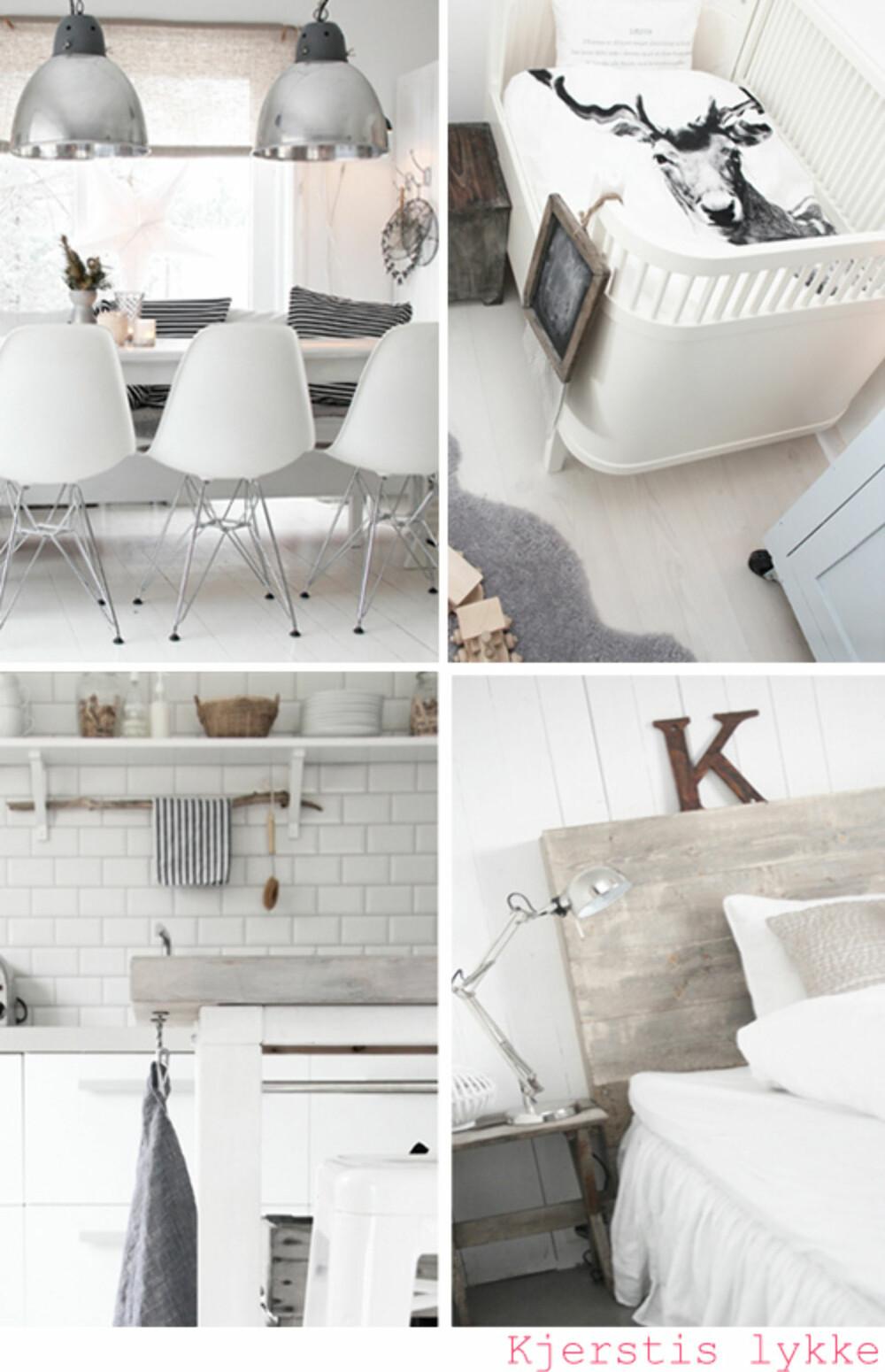 HVITMALT LYKKE: Det er mange hvitmalte interiører å finne blant norske interiørbloggere.