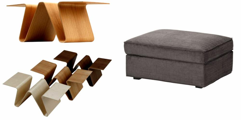 TENK MULTIFUNKSJONELT: Smarte møbler med flere funksjoner letter jobben med å holde hjemmet i orden.