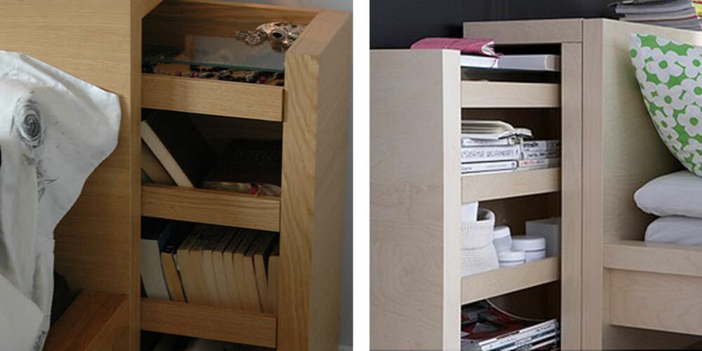 GJENNOMTENKT: Hodegavlen i Malm serien fra Ikea har smarte hyller som kan trekkes ut.