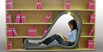 LESEKROK: Inspirert av plassmangelen i japanske hjem har designer Sakura dachi designet et huleaktig leserom med innebygde hyller til bøker. Fra sakurah.net.