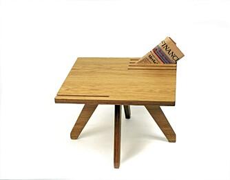 EN GOD NYHET: Bordet Good News, designet av norske Karl Marius Sveen, ble til ved at designeren ønsket å lage et møbel som skulle reflektere rundt nyheter.