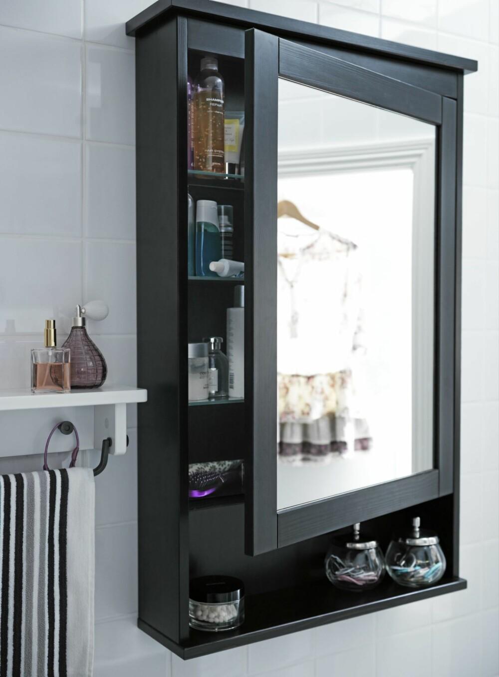 SATSER PÅ SPEIL: Fordi mange bor smått er det ekstra viktig å tenke god plassutnyttelse, og speilskap er både praktisk og fint.