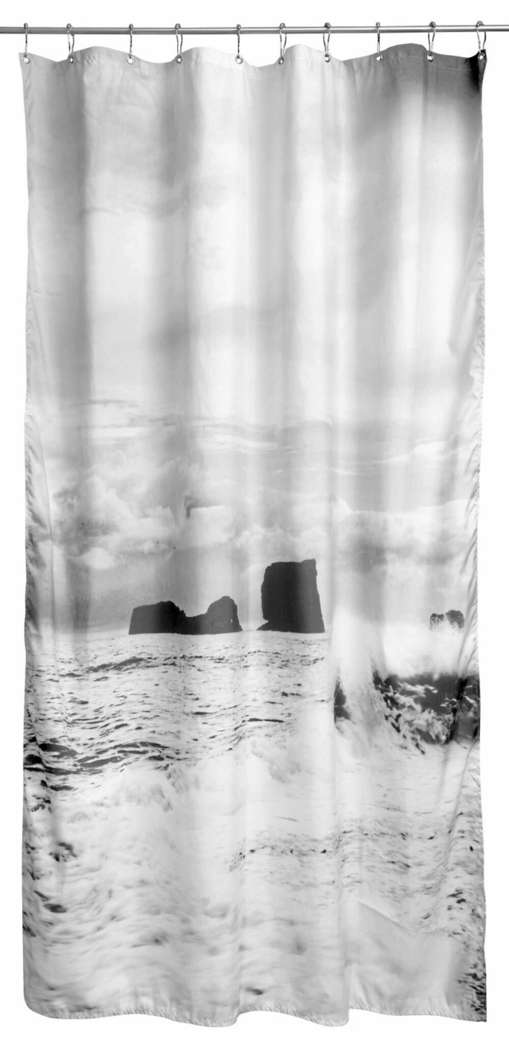 KJAPP UTSKIFTNING: Et nytt dusjforheng fra By Nord setter prikken over i-en. Fototrykk er i tiden som aldri før.