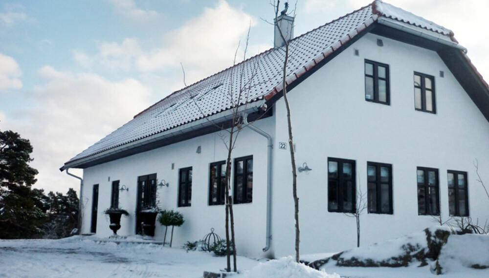 DRØMMEBOLIG: Maria Farsund Forsberg og mannen har selv planlagt og fått bygget drømmehjemmet sitt i Sarpsborg.