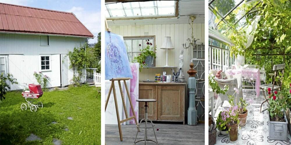 ÂNGLAGÅRD PÅ NORSK: I Bærum ligger låven som har blitt et hjem fylt med ting fra en annen tid.
