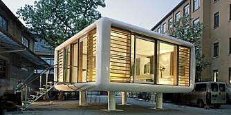 LOFTCUBE: Denne mobile boligen kan du plassere hvor du måtte ønske.