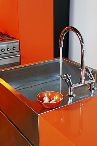 IKKE A-4: Arkitektene tegnet også vaskene sine selv. De ble produsert hos  Rustfrie Bergh.