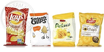 18 produkter: Vi har testet chips og forteller deg hvilke du bør kjøpe!