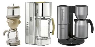 IKKE ANBEFALTE: Åtte av de dyreste kaffetrakterne lager ikke god nok kaffe.