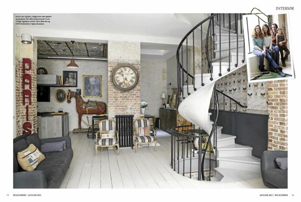 SJARMEN TELLER: Drømmeboligen kan være liten eller stor, gammel eller ny. Det som er viktig er at den har sjarme. Her ser du en fransk bolig i Paris.