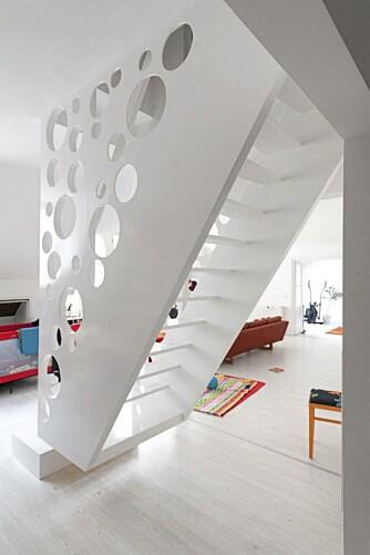 IKKE STANDARDTRAPP: Emmental Stairs er spesialdesignet til en leken familie.