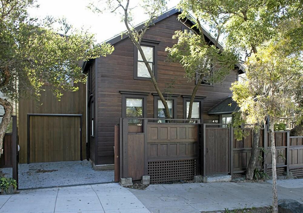 ORIGINAL FASADE: Det var viktig for arkitektene at fremsiden av huset var tilpasset området rundt