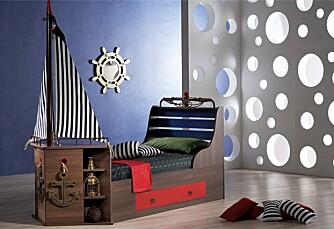 Piratrom: Hvilken lille pirat er det vel ikke som drømmer om en Sabeltann-seng på gutterommet? Denne får du på www.barnerommet.no og www.drommerom.no til kr. 4990.
