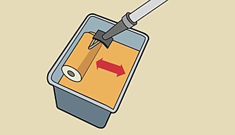 Fyll oppl: Rull på toppen av malingen