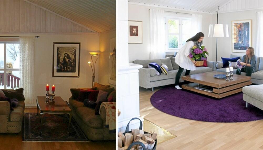 Kul kontrast. Med farger og nye møbler ble salongen husets populære blikkkfang og samlingssted.