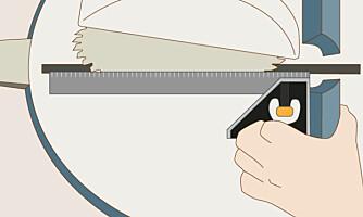 Rette vinkler: Har du en skikkelig sag kan den justeres hvis den har kommet ut av vinkel.