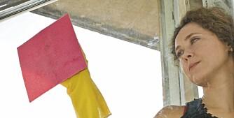 VIDUNDERMIDDEL: En blanding av eddik og oppvaskmiddel fungerer godt som middel for å fjerne flekker på vindus- og dørkarmer. Eddik alene med vann er også et ypperlig vindusvaskemiddel.