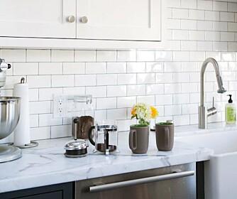 FORSIKTIG NÅ: Kaffe, rødvin, Cola og en del rengjøringsmidler kan skade marmor.