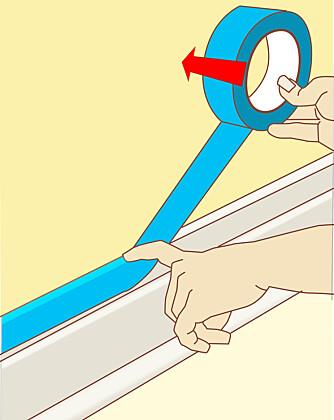 MASKERE LIST: Legg rullen inntil veggen, trekk etter med fingeren