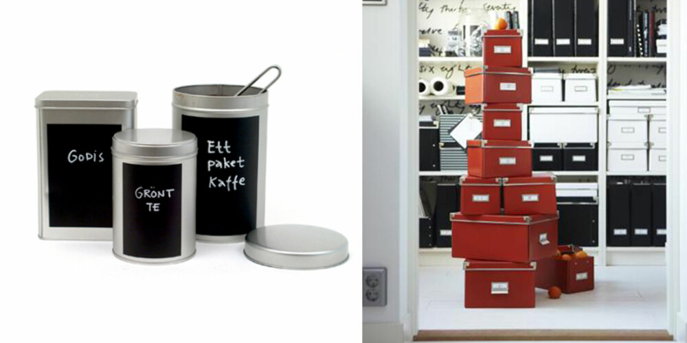 BOKSER: Kjøp smarte esker og bokser for oppbevaring av alskens småting.