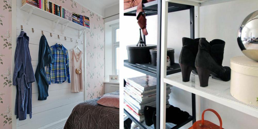 PØS PÅ: Knagger og hyller gjør det lettere å finne en fast plass til alle klær og ting.