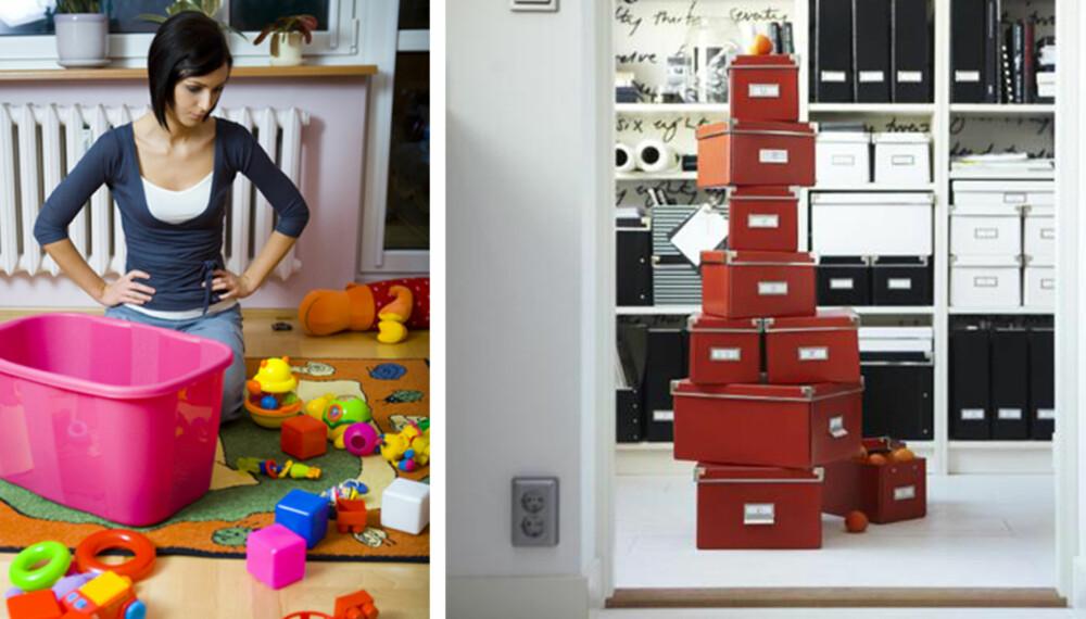 FRA KAOS TIL KONTROLL: Få med deg tipsene som gjør det til en lek å holde orden i hjemmet.
