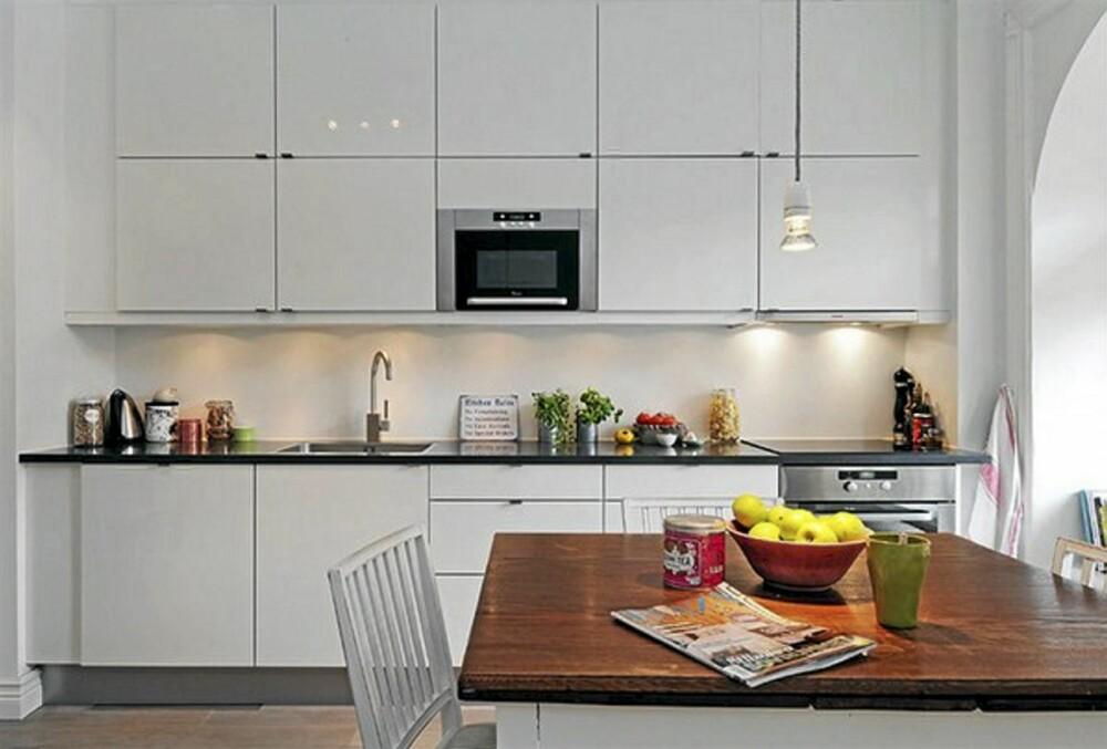 KJØKKEN: Det hvite kjøkkenet er fra HTH