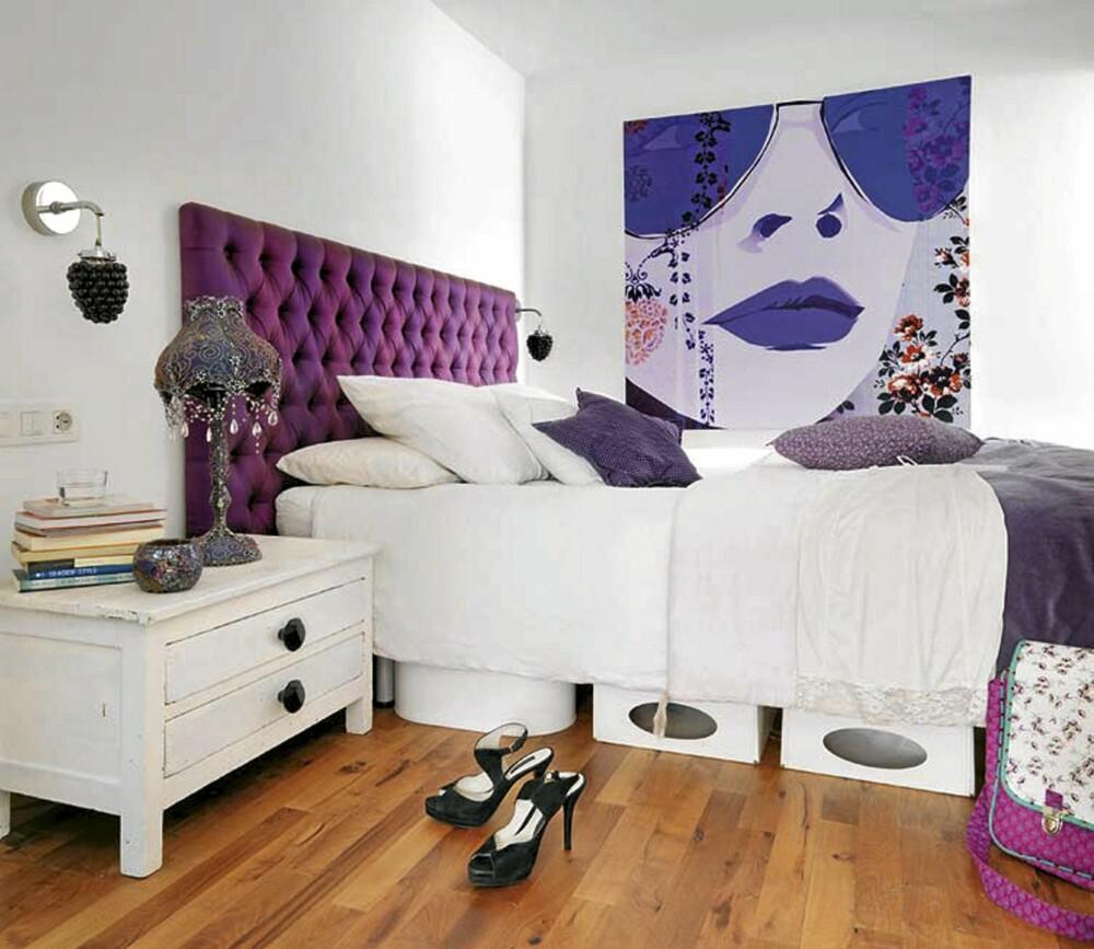 KUNST: Eieren var opptatt av en artistisk atmosfære, noe som gjenspeiles i dekorasjonene på veggene.