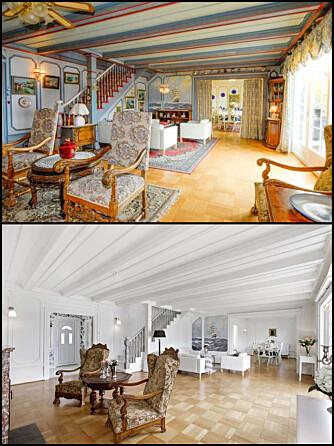 EKSTREM FORVANDLING: Her har boligstylisten valgt å male rommet i en nøytral farge, samt fjerne unødvendig interiør.