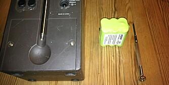 Dette er alt du trenger. Radioen, nytt batteri og en stjernetrekker.