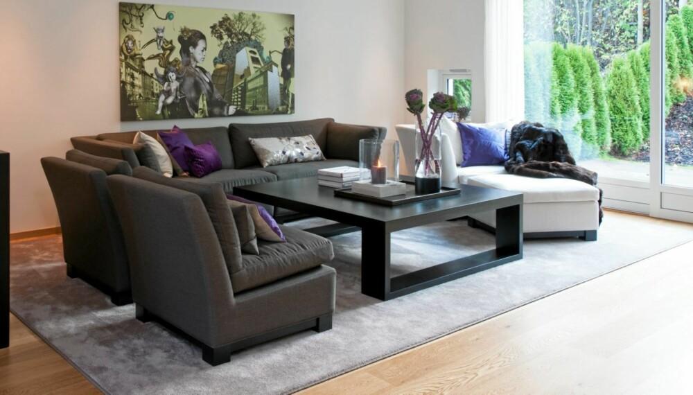 Super Bedre akustikk med store møbler, tekstiler og lerretsbilder - Stue QH-43