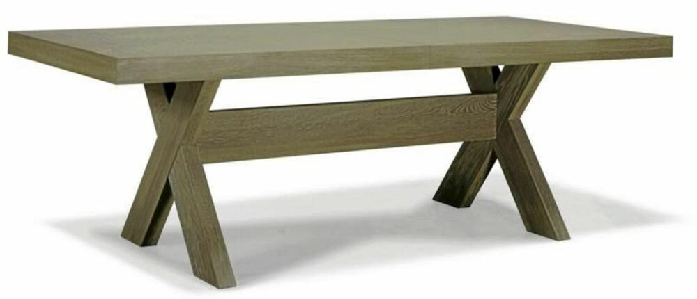BENA I KORS: Bordet York designet av Helene Hennie er et av Slettvolls tungvektere, fra kr 33 100.