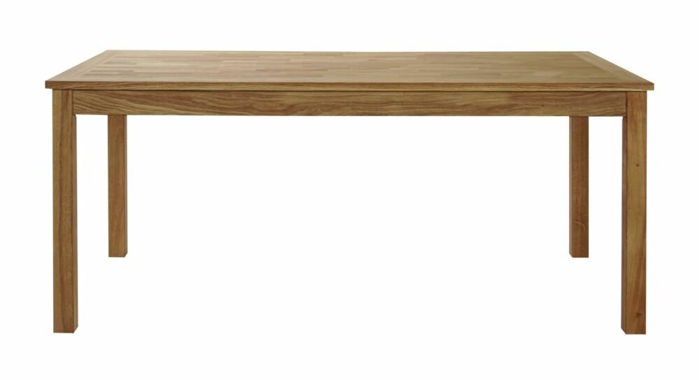 RIMELIGERE: Bordet Trenton fra Skeidar er tilvirket i massiv og finert eik, kr 4490 (inkl. to plater).