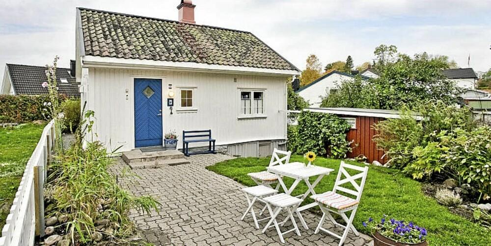 PERLE I SKIEN: Dette lille huset på 33 kvadratmeter, som er til slags i Skien, beskrives som en perle, og eieren har innredet huset med stor pietet.