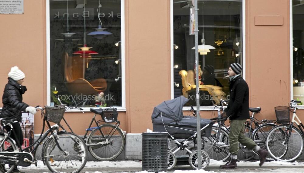 SHOPPING I KØBENHAVN: Med sykkel og et planlagt løp kommer man seg enkelt frem til butikkene i fantastiske København.