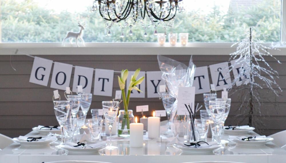 HAPPY NEW YEAR: Finn inspirasjon til vinterens flotteste festbord hos disse flinke interiørbloggerne.