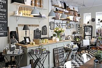 BUTIKK: Alvhem mäkleri har også en egen interiørbutikk som både selger og låner ut produkter.